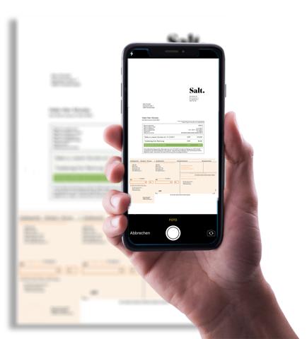 Kreditoren-Rechnungen via Einzahlungsschein mit smallinvoice scannen