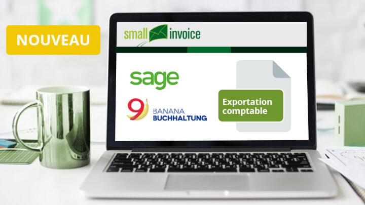 Exportation comptable pour Sage50 et Banana