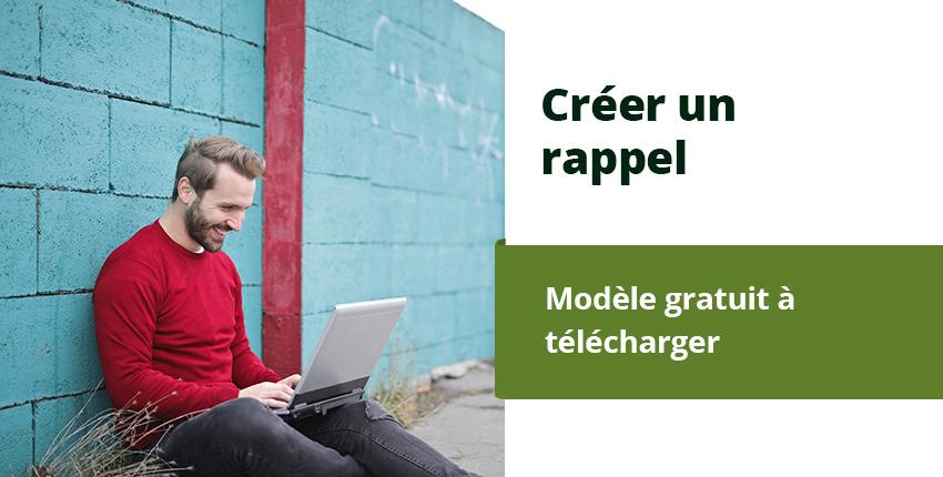 Créer un rappel suisse – Modèle Word gratuit à télécharger